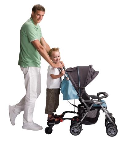 Jeigu daug vaikštote, vyresnėlis sūnus ar dukrytė gali pavargti. Tokiu atveju, ji galėtų atsisoti ant specialaus pagrindo ir pailsėti, netrukdant kelionės. Tokią galimybę turi ne visi vežimėliai